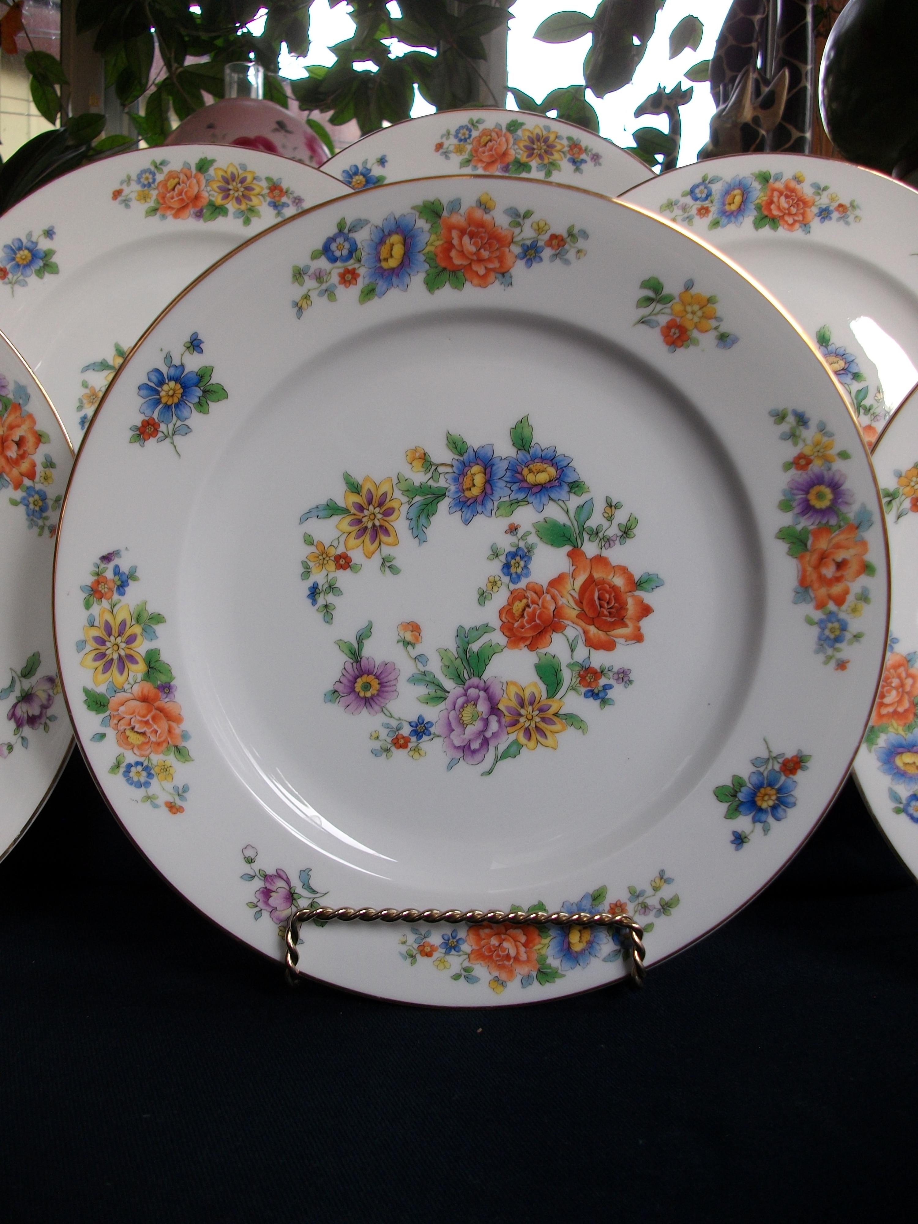 Kpm Krister Germany 27382 Floral Amp Gilt C 1925